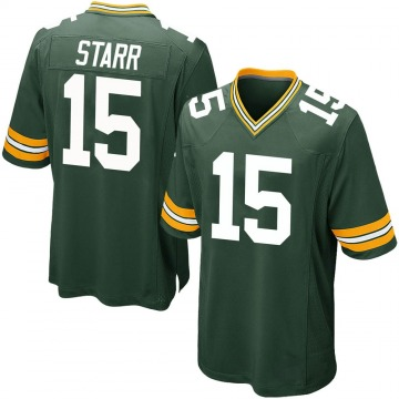 Youth Nike Green Bay Packers Bart Starr Green Team Color Jersey - Game