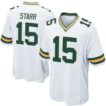 Youth Nike Green Bay Packers Bart Starr White Jersey - Game