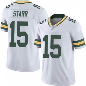 Youth Nike Green Bay Packers Bart Starr White Vapor Untouchable Jersey - Limited