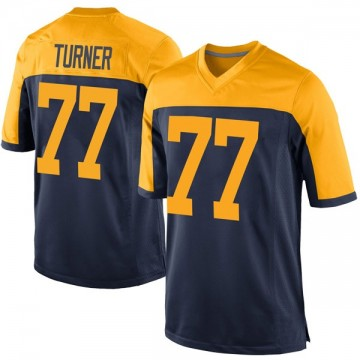 Youth Nike Green Bay Packers Billy Turner Navy Alternate Jersey - Game
