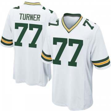 Youth Nike Green Bay Packers Billy Turner White Jersey - Game