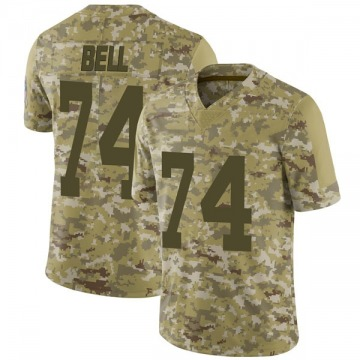 Youth Nike Green Bay Packers Byron Bell Camo 2018 Salute to Service Jersey - Limited