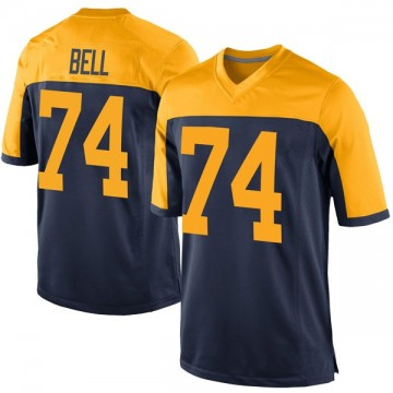 Youth Nike Green Bay Packers Byron Bell Navy Alternate Jersey - Game