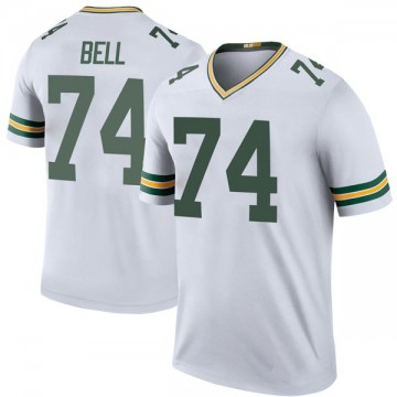 Youth Nike Green Bay Packers Byron Bell White Color Rush Jersey - Legend