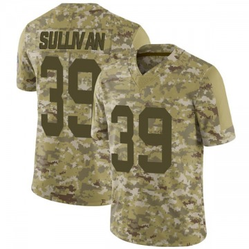 Youth Nike Green Bay Packers Chandon Sullivan Camo 2018 Salute to Service Jersey - Limited