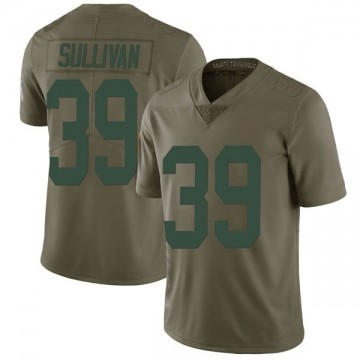 Youth Nike Green Bay Packers Chandon Sullivan Green 2017 Salute to Service Jersey - Limited