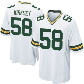 Youth Nike Green Bay Packers Christian Kirksey White Jersey - Game