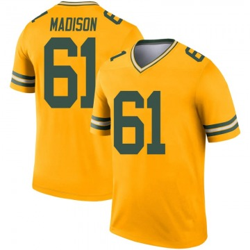 Youth Nike Green Bay Packers Cole Madison Gold Inverted Jersey - Legend