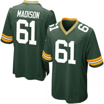Youth Nike Green Bay Packers Cole Madison Green Team Color Jersey - Game