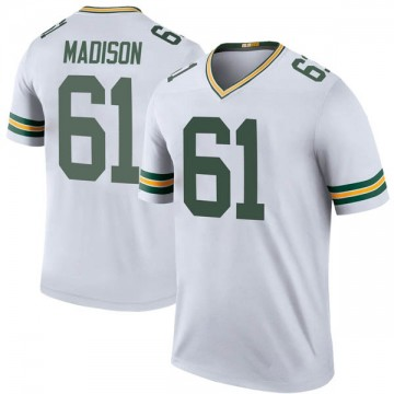 Youth Nike Green Bay Packers Cole Madison White Color Rush Jersey - Legend