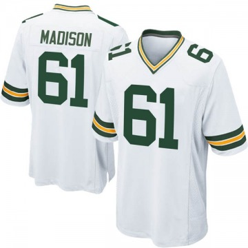 Youth Nike Green Bay Packers Cole Madison White Jersey - Game