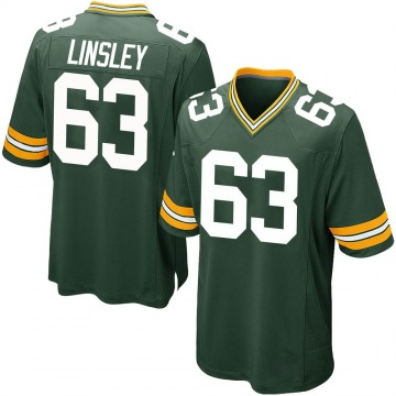 Youth Nike Green Bay Packers Corey Linsley Green Team Color Jersey - Game