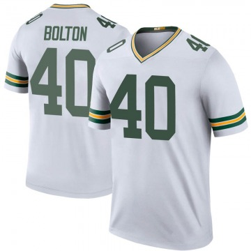 Youth Nike Green Bay Packers Curtis Bolton White Color Rush Jersey - Legend
