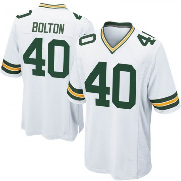Youth Nike Green Bay Packers Curtis Bolton White Jersey - Game
