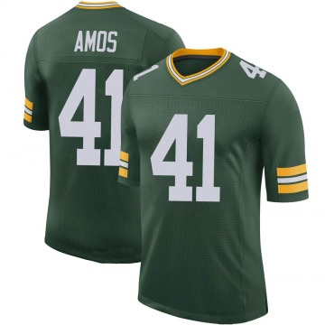 Youth Nike Green Bay Packers DaShaun Amos Green 100th Vapor Jersey - Limited