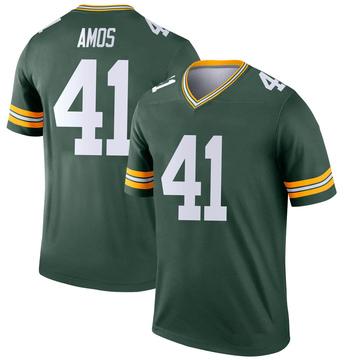 Youth Nike Green Bay Packers DaShaun Amos Green Jersey - Legend