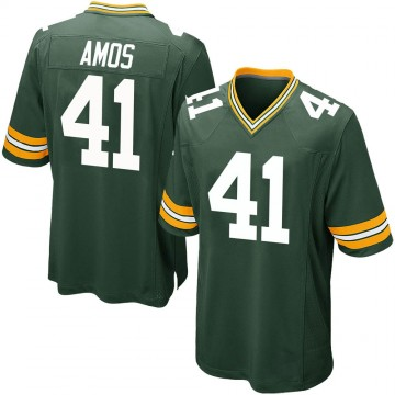 Youth Nike Green Bay Packers DaShaun Amos Green Team Color Jersey - Game