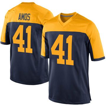 Youth Nike Green Bay Packers DaShaun Amos Navy Alternate Jersey - Game