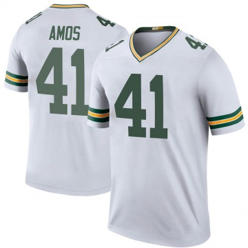 Youth Nike Green Bay Packers DaShaun Amos White Color Rush Jersey - Legend