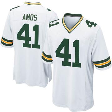 Youth Nike Green Bay Packers DaShaun Amos White Jersey - Game