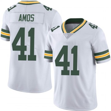 Youth Nike Green Bay Packers DaShaun Amos White Vapor Untouchable Jersey - Limited