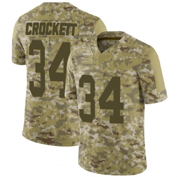 Youth Nike Green Bay Packers Damarea Crockett Camo 2018 Salute to Service Jersey - Limited
