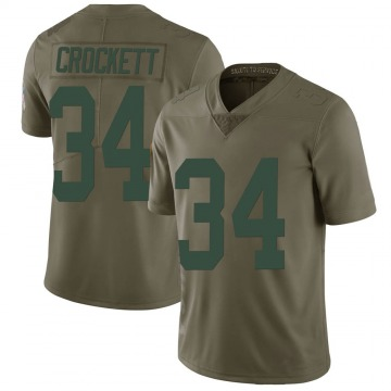 Youth Nike Green Bay Packers Damarea Crockett Green 2017 Salute to Service Jersey - Limited