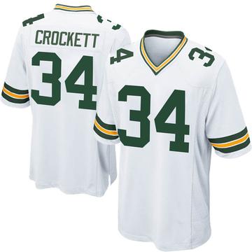 Youth Nike Green Bay Packers Damarea Crockett White Jersey - Game