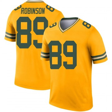 Youth Nike Green Bay Packers Dave Robinson Gold Inverted Jersey - Legend
