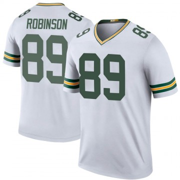 Youth Nike Green Bay Packers Dave Robinson White Color Rush Jersey - Legend