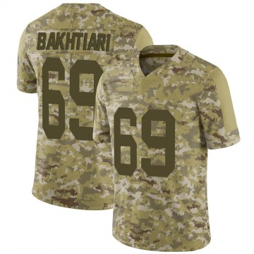 Youth Nike Green Bay Packers David Bakhtiari Camo 2018 Salute to Service Jersey - Limited