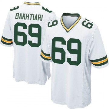Youth Nike Green Bay Packers David Bakhtiari White Jersey - Game
