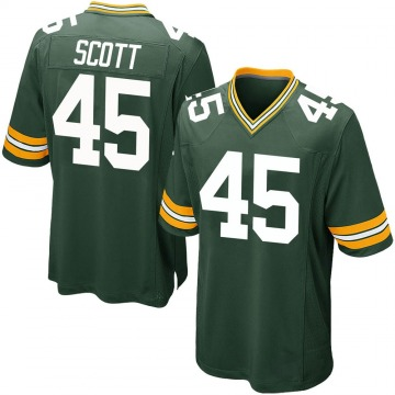 Youth Nike Green Bay Packers Delontae Scott Green Team Color Jersey - Game