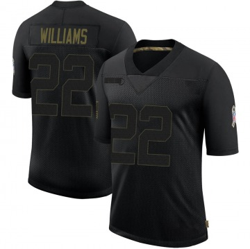 Youth Nike Green Bay Packers Dexter Williams Black 2020 Salute To Service Jersey - Limited