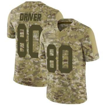 Youth Nike Green Bay Packers Donald Driver Camo 2018 Salute to Service Jersey - Limited