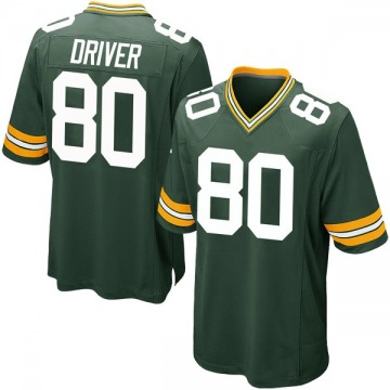 Youth Nike Green Bay Packers Donald Driver Green Team Color Jersey - Game