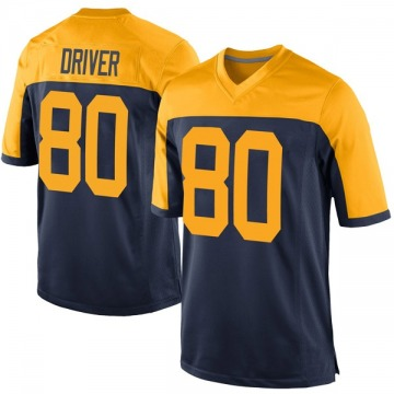 Youth Nike Green Bay Packers Donald Driver Navy Alternate Jersey - Game