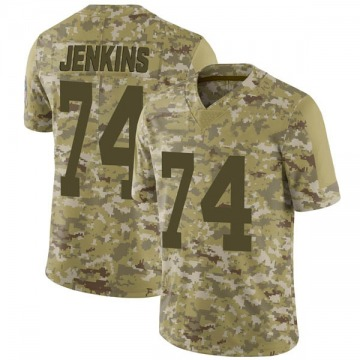 Youth Nike Green Bay Packers Elgton Jenkins Camo 2018 Salute to Service Jersey - Limited