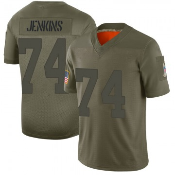Youth Nike Green Bay Packers Elgton Jenkins Camo 2019 Salute to Service Jersey - Limited