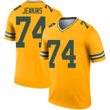 Youth Nike Green Bay Packers Elgton Jenkins Gold Inverted Jersey - Legend