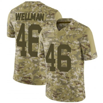 Youth Nike Green Bay Packers Elijah Wellman Camo 2018 Salute to Service Jersey - Limited