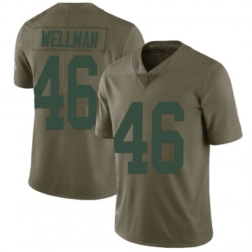 Youth Nike Green Bay Packers Elijah Wellman Green 2017 Salute to Service Jersey - Limited