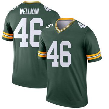 Youth Nike Green Bay Packers Elijah Wellman Green Jersey - Legend