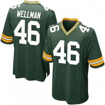 Youth Nike Green Bay Packers Elijah Wellman Green Team Color Jersey - Game