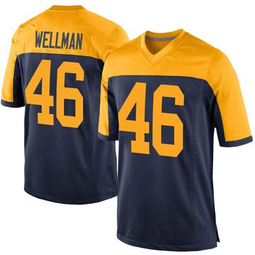 Youth Nike Green Bay Packers Elijah Wellman Navy Alternate Jersey - Game