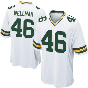 Youth Nike Green Bay Packers Elijah Wellman White Jersey - Game
