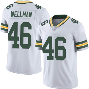 Youth Nike Green Bay Packers Elijah Wellman White Vapor Untouchable Jersey - Limited