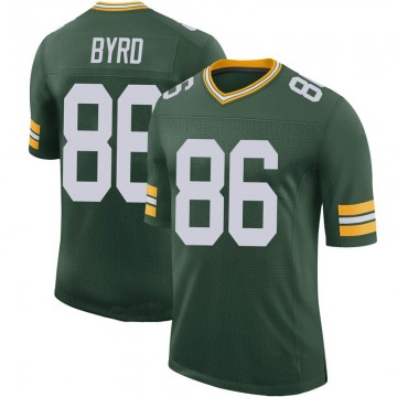 Youth Nike Green Bay Packers Emanuel Byrd Green 100th Vapor Jersey - Limited