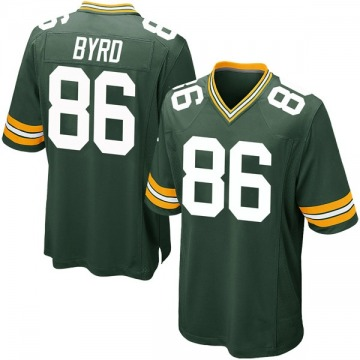 Youth Nike Green Bay Packers Emanuel Byrd Green Team Color Jersey - Game
