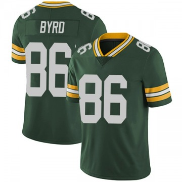 Youth Nike Green Bay Packers Emanuel Byrd Green Team Color Vapor Untouchable Jersey - Limited